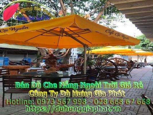 Bảng Giá Bán Dù Che Nắng Ngoài Trời Quán Cafe Tại Quận Tân Phú TPHCM