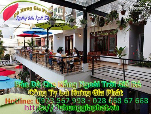 Địa Chỉ Bán Ô Dù Che Nắng Quán Cà Phê Ngoài Trời Tại Quận Tân Phú
