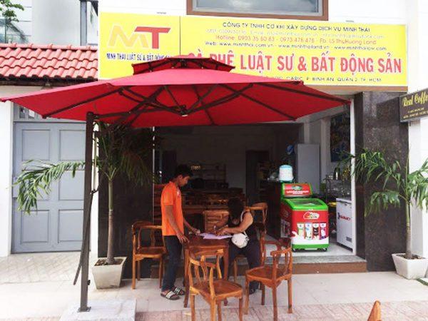 Dù Che Nắng Lệch Tâm Tròn Quán Cafe 3.3m
