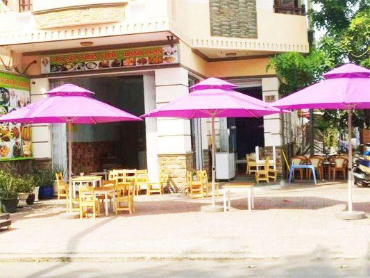Mẫu Dù Che Nắng Mưa Ngoài trời Quán Cafe Đứng Tâm Tròn 2 Tầng