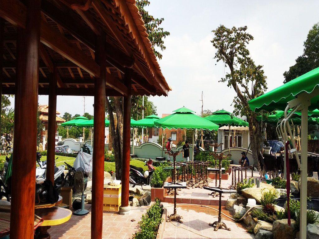 Dù Lệch Tâm Vuông Hai Tầng 2.5m