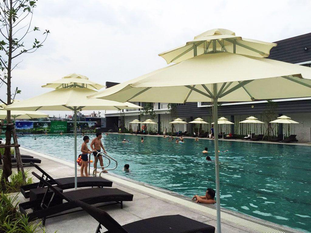 Dù Đứng Tâm 2 Tầng Che Nắng Ngoài Trời Hồ Bơi Giá Rẻ Đa Dạng Mẫu Đẹp