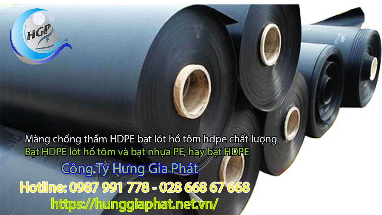 Tiêu chuẩn cấu tạo củacácsản phẩm bạt nhựa HDPE
